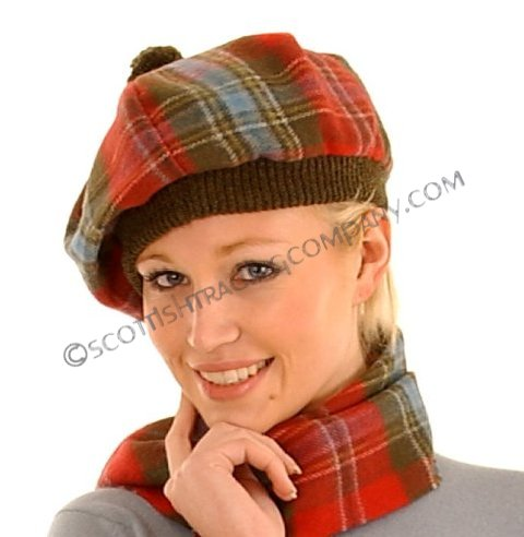 Brushed Wool Tartan Tams