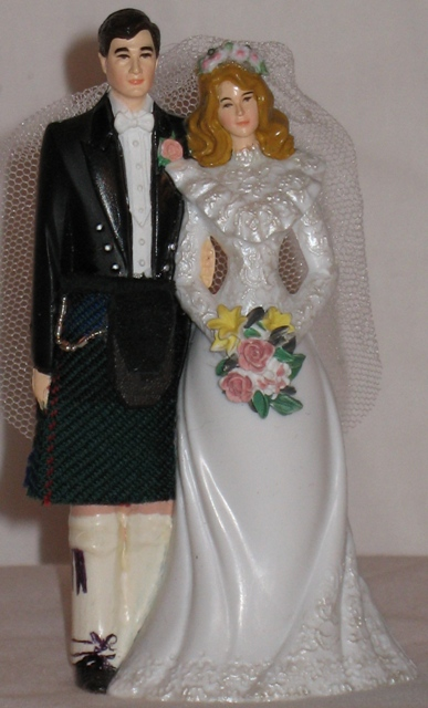 Custom Scottish Wedding Cake Topper